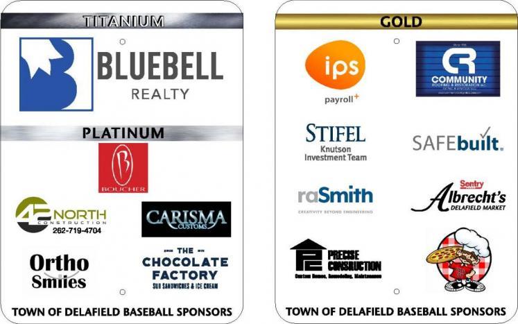 Baseball sponsor flyer