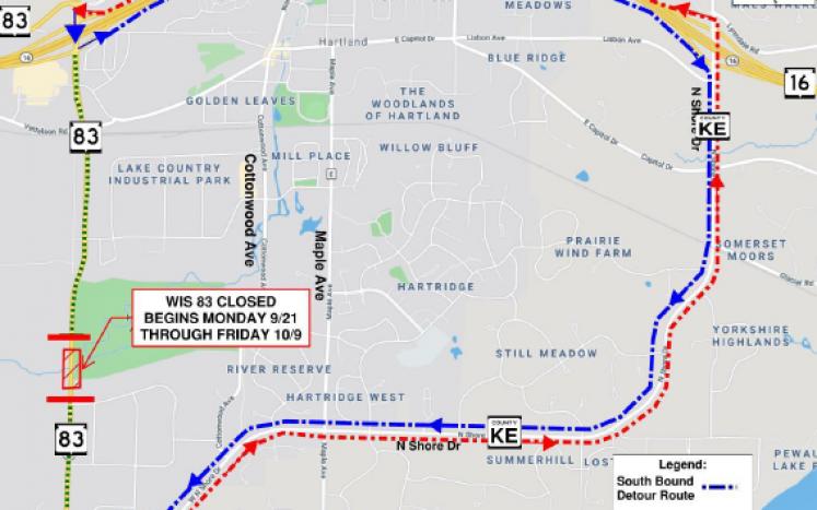map of detour