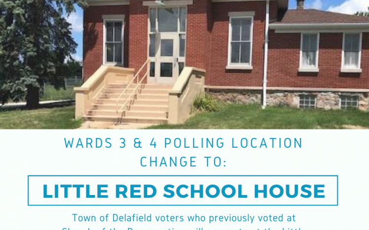 Red School House Polling Location poster